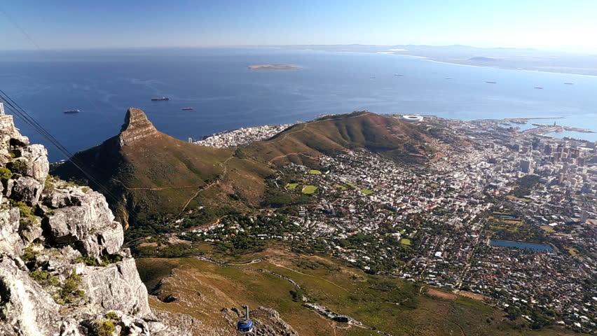 South Africa Cape Town Table Mountain Western Cape Cable Car Lions Peak city transportation business landmark