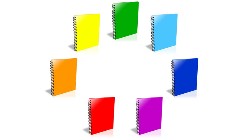 Conceptual video choose color of the Binder. ENDLESS LOOP - HD stock video clip