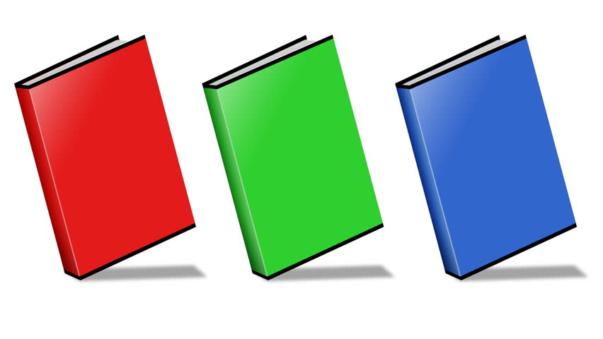 Conceptual video choose color of the Book. ENDLESS LOOP - HD stock footage clip