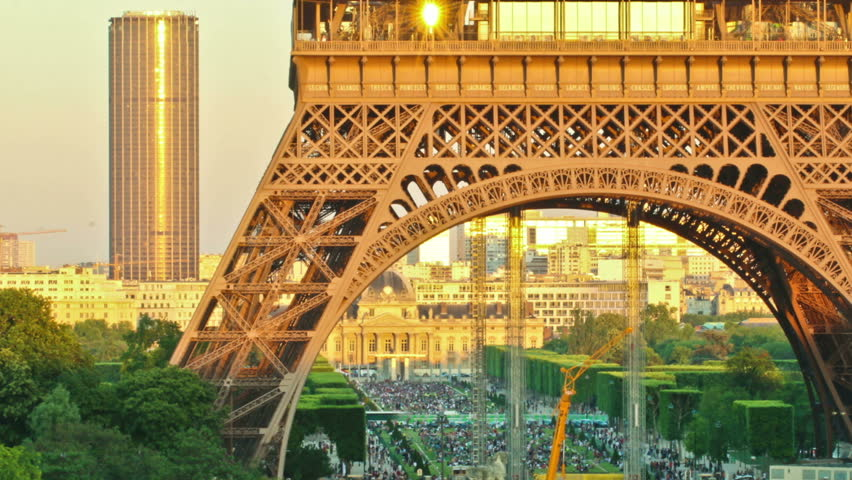 Time lapse of of the Eiffel tower at Sunset. | Shutterstock HD Video #12020750