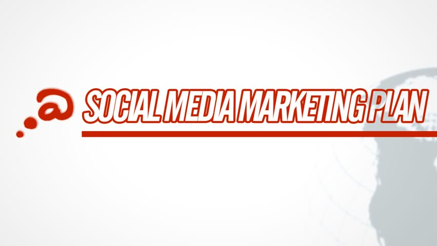 Social Media Marketing Plan video illustration on white in HD (1920x1080 pixels, 30 sec)