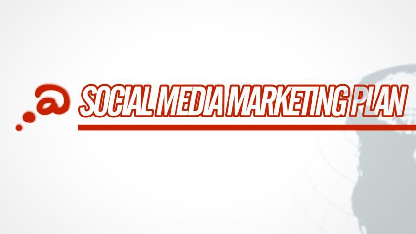 Social Media Marketing Plan video illustration on white in HD (1920x1080 pixels, 30 sec)