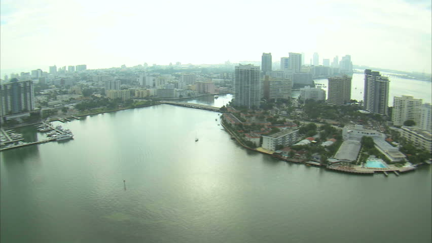An aerial shot of downtown Miami. | Shutterstock HD Video #12044699