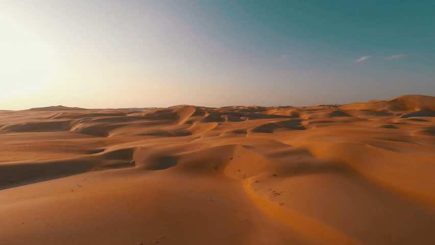 Pristine red sand dunes rolling off into the distance | Shutterstock HD Video #12045986
