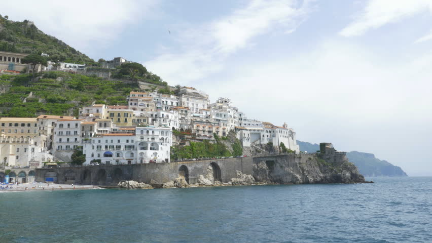 South end of the town of Amalfi, Italy.