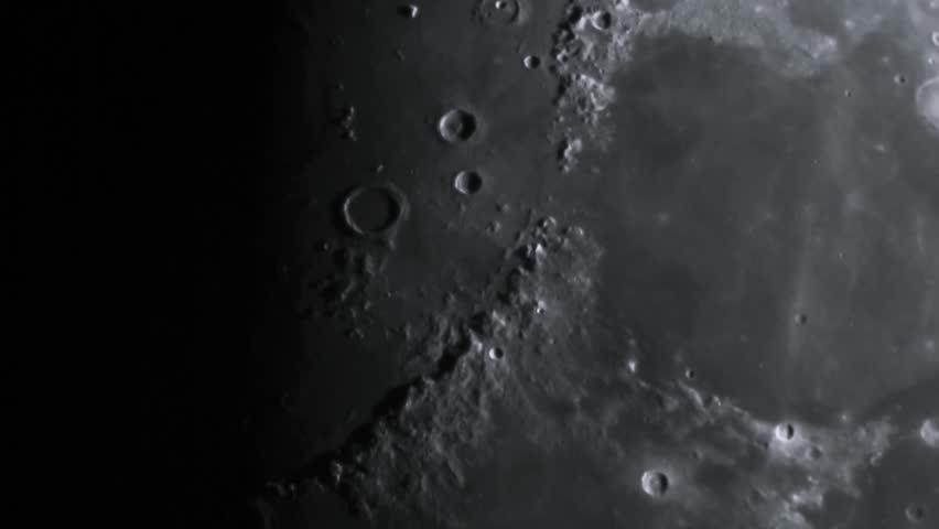 A huge Moon.Half Moon.Flying over the moon.Terminator. Astro photography.