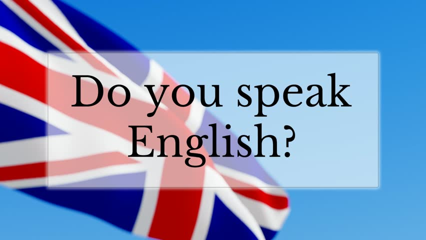 Learn English Text W American Flag Background Learn