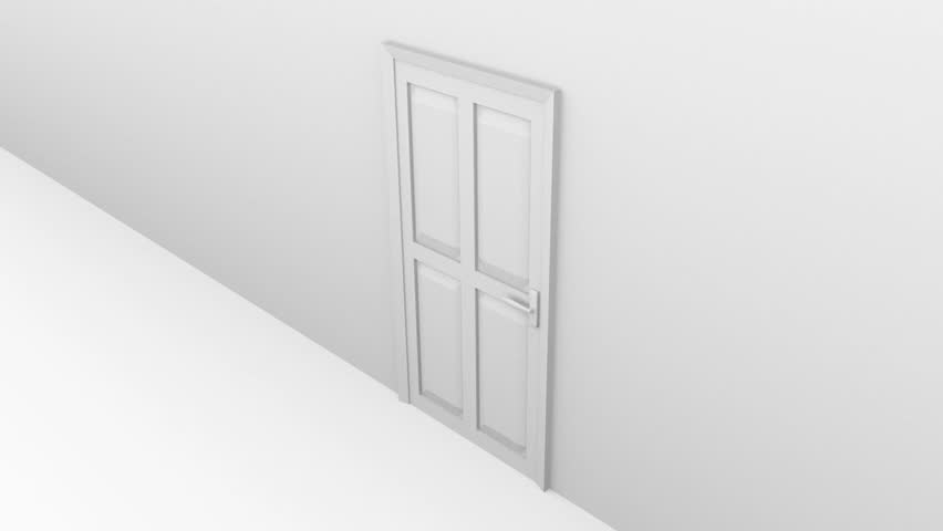 opening door - HD stock video clip