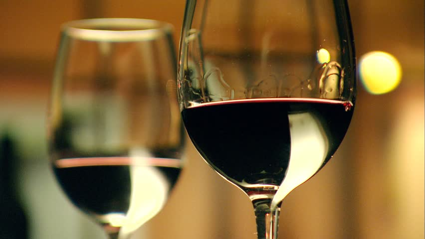 Footage Of Stylish Wine Glasses For Wine Tasting In Fine Dining Winery With W
