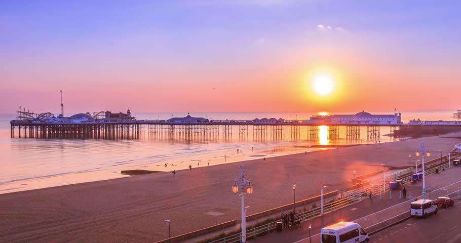 Brighton Pier Sunset,Day to Night #12205376