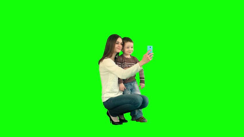 Chroma key kid Footage