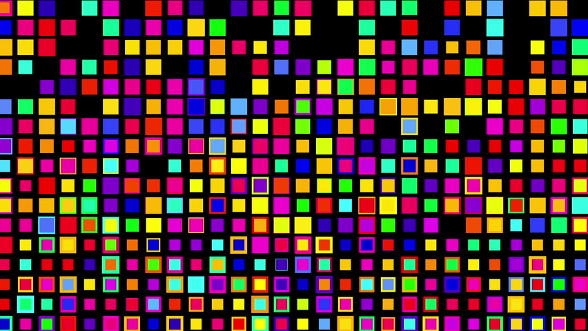 Crazy multicolor color squares, Alpha | Shutterstock HD Video #12259016