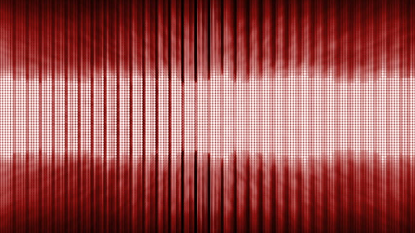 red fancy equalizer in a dark background stock footage