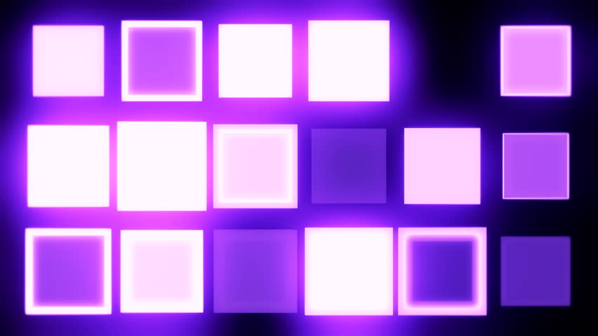 Colorful Dance Floor With Several Shining Stock Footage
