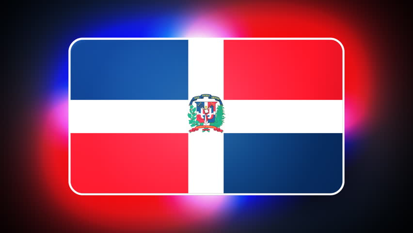 Dominican Republic  3D flag - HD loop  - HD stock video clip