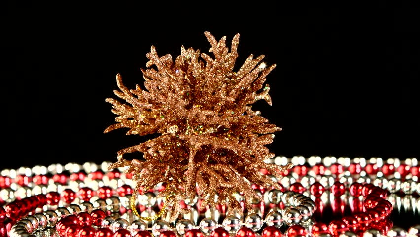 Unusual shiny coral toy for christmas tree decoration