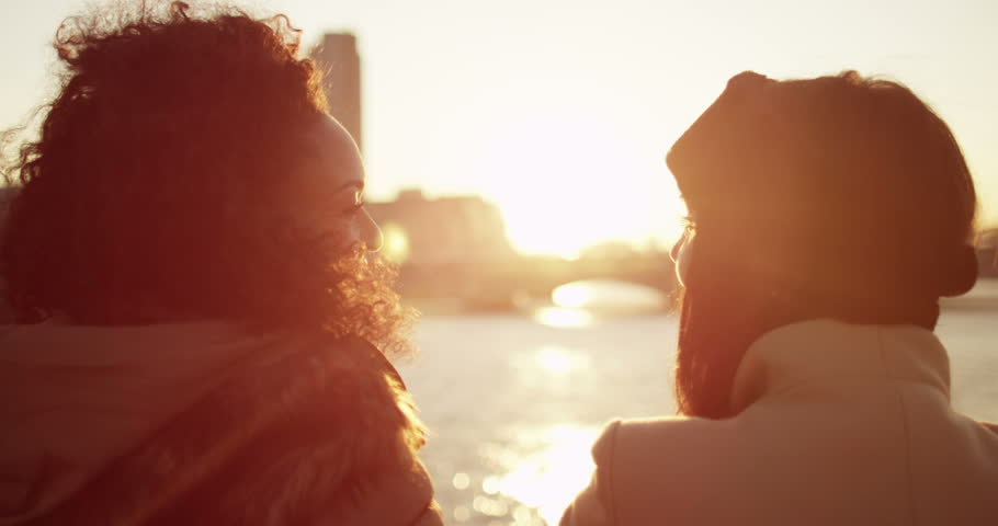 Two cheerful girl friends in London city over sunset. Shot on RED Epic. | Shutterstock HD Video #12552614