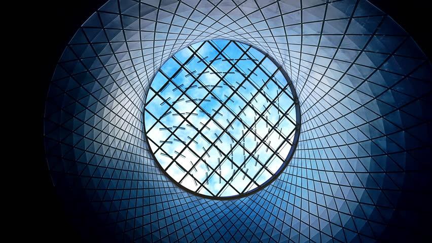 Futuristic Skylight Window and Cloudscape Time Lapse 4K