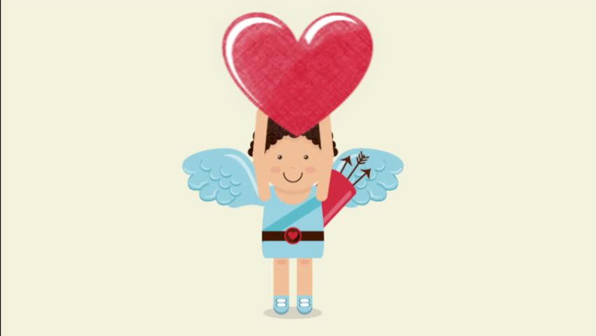 Happy valentines day design, Video Animation HD1080 - HD stock video clip