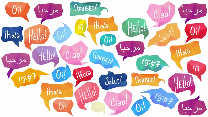 Good Morning Translated In Russian Language : Speech bubbles with quot hello on different languages stock