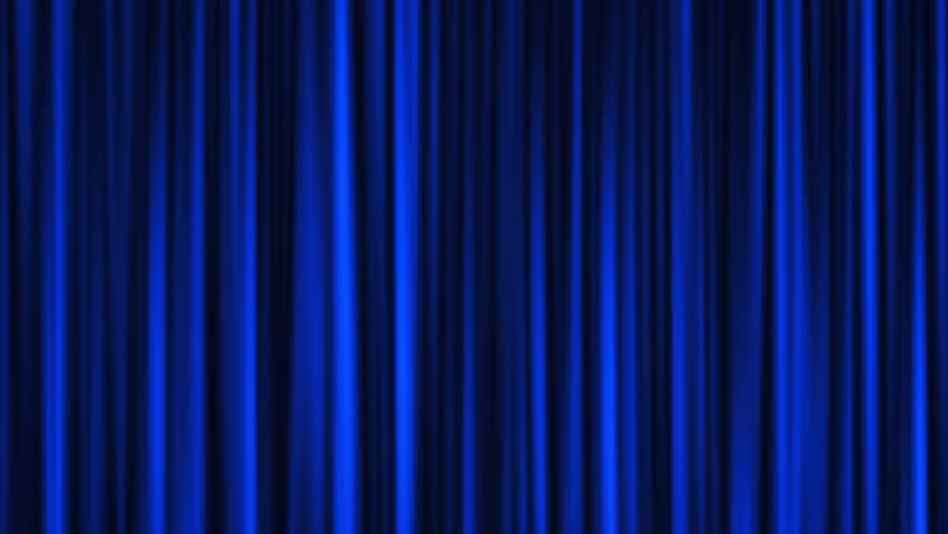 VIDEO CLIP CURTAIN FALL BLUE