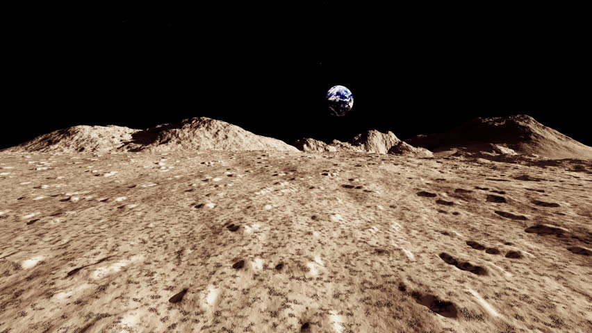lunar landscape looking at earth - photo #18