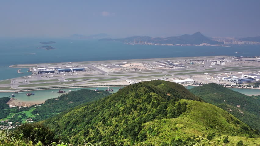 Beautiful view of International airport in Hong Kong. | Shutterstock HD Video #12849668