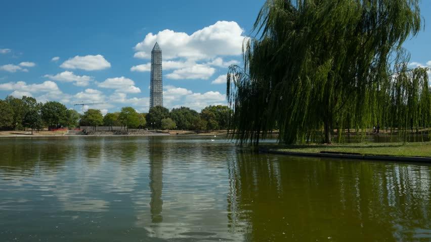 Washington, D.C. Washington Monument cloud / water timelapse