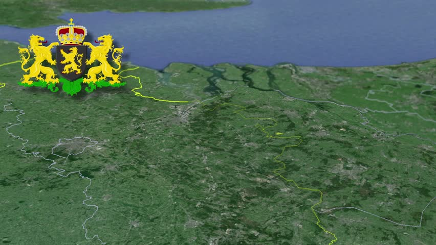 North Brabant whit Coat of arms animation map Provinces of the Netherlands