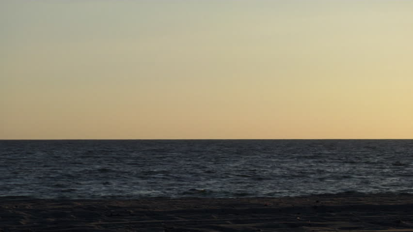 Santa Monica Beach seascape. Shot in California. - HD stock footage clip