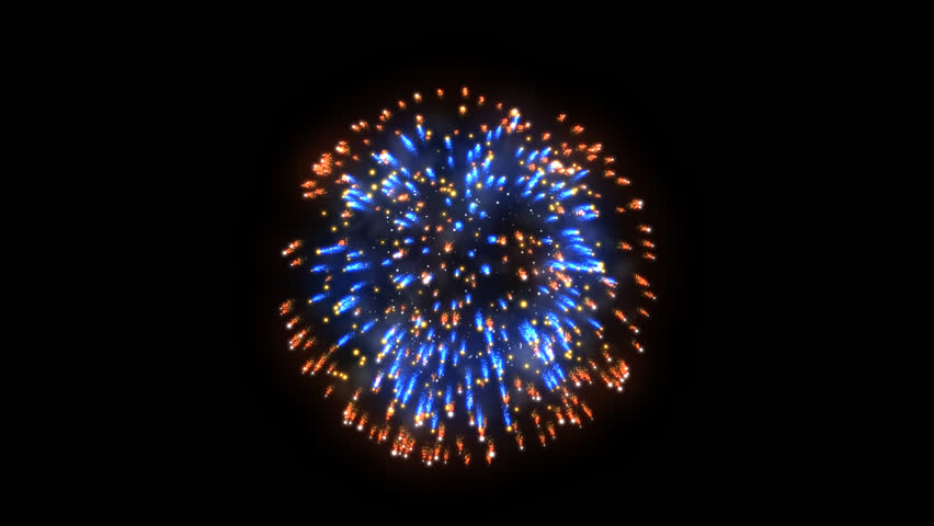 Fireworks, holiday background, Alpha Channel - HD stock footage clip