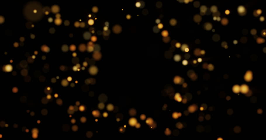 Abstract background with shining bokeh sparkles. Smooth animation looped. With a central place for your logo\text. Abstract golden bokeh particles seamless loop