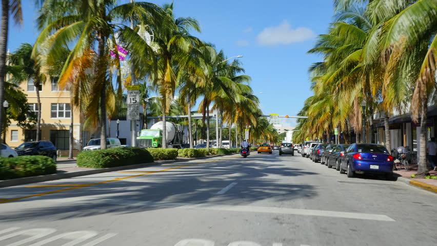 Washington Avenue South Beach Miami Beach Fl Usa