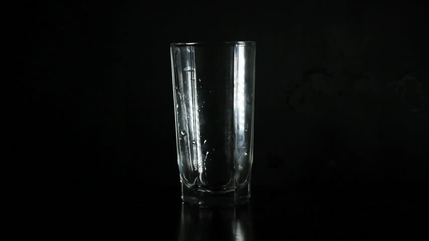 Glass of water - HD stock footage clip