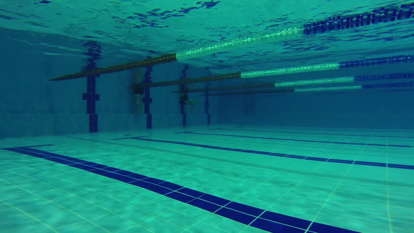 Empty Olympic Swimming Pool Underwater Stock Footage Video