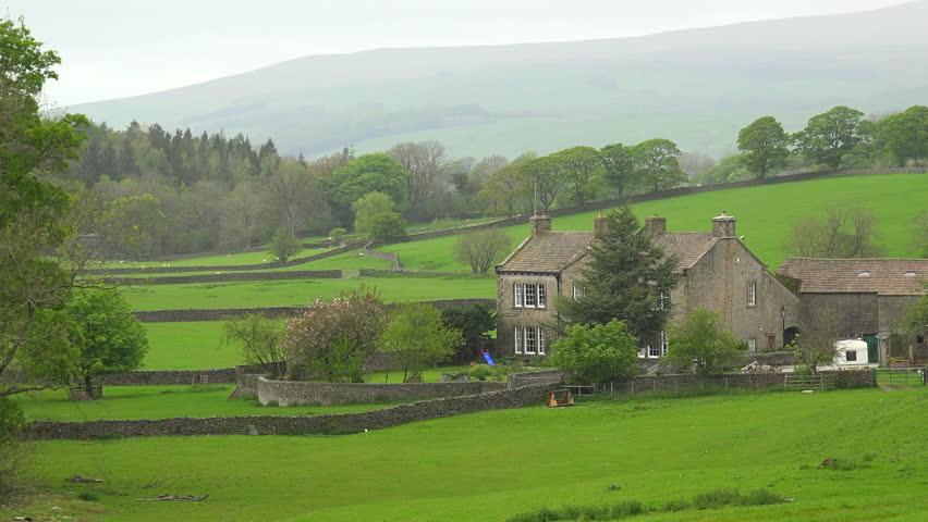 United Kingdom Circa 2015 Very Quaint Cottages Make Up