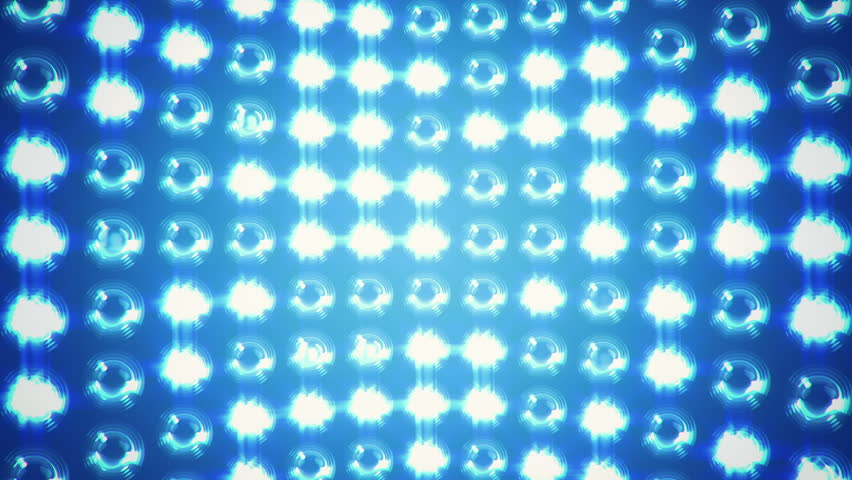 Abstract background with wall from lamps of bright light. Glowing and bright light. Projector of light rays. Animation of seamless loop. - HD stock video clip