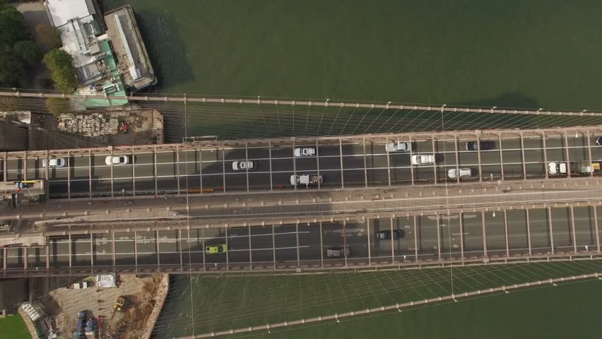 bridge brooklyn york aerial 4k side shutterstock footage related camera moves towards downtown