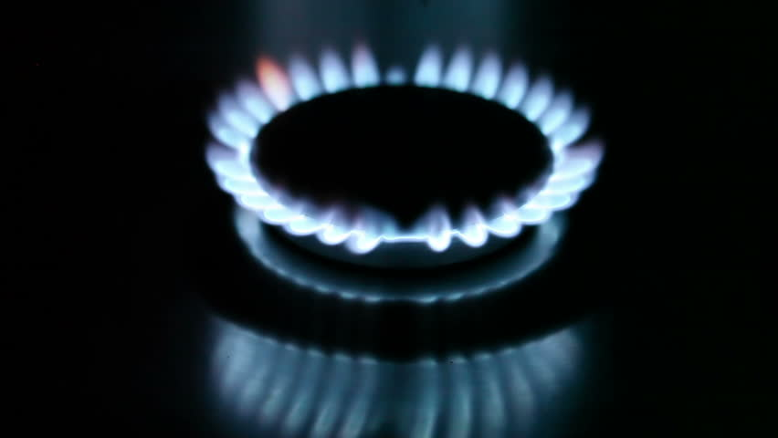 The burning torch on the gas stove - HD stock video clip