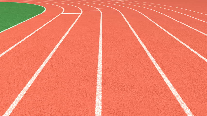 Athletics stadium running track, sport field – looping