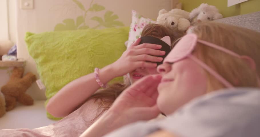 Girls Having Fun In Bed
