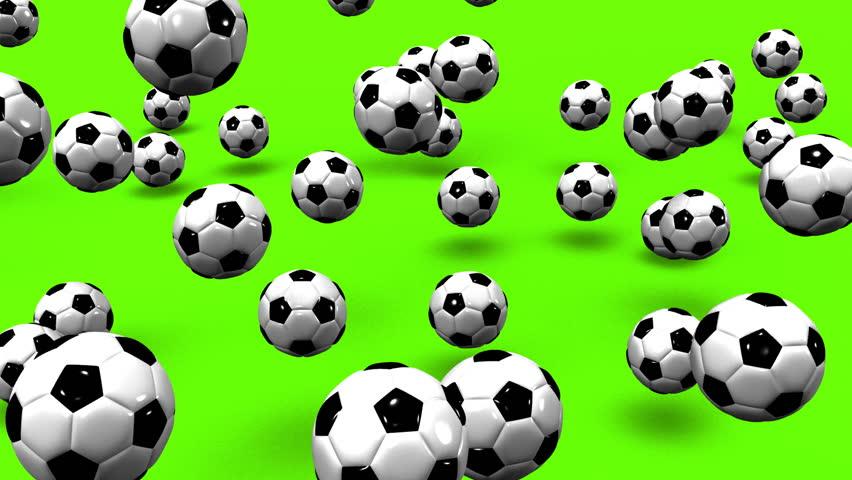 Bouncing Soccer Balls On Green Background. | Shutterstock HD Video #13251788