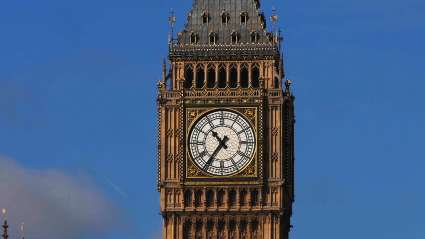 Close-up Timelapse Of Big Ben, In London, Stock Footage ...