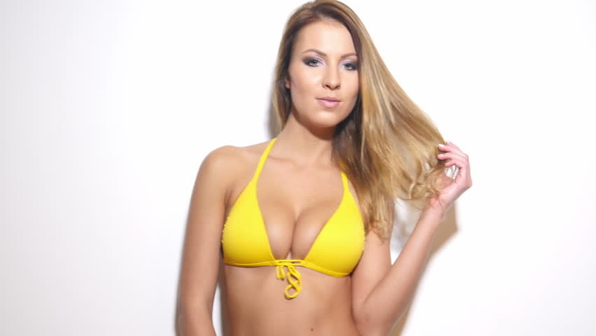 Hot bikini girl dance