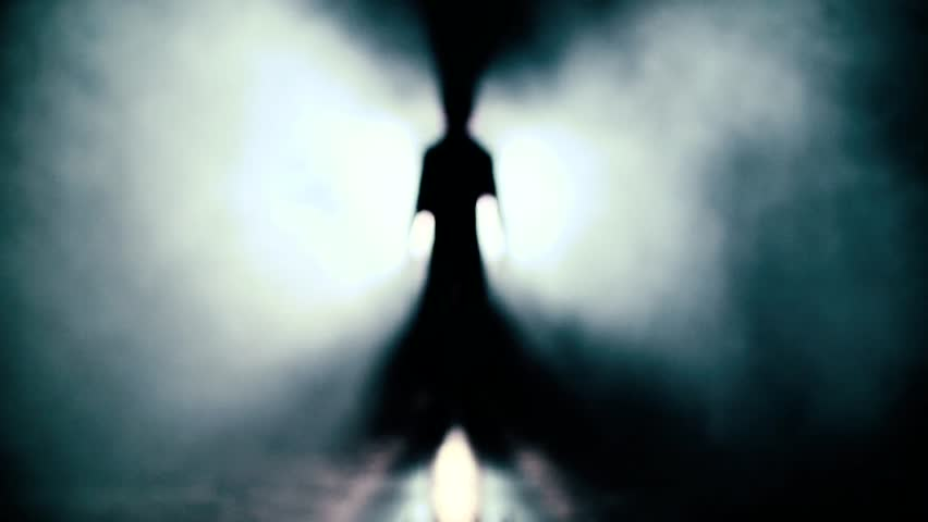Walk to the light. Looking for exit, freedom and clinical death Slow Motion UFO