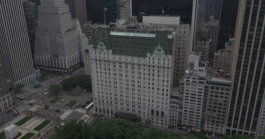 Aerial Shot of The Plaza Hotel in New York City ( New York City- July 2015) | Shutterstock HD Video #13397984