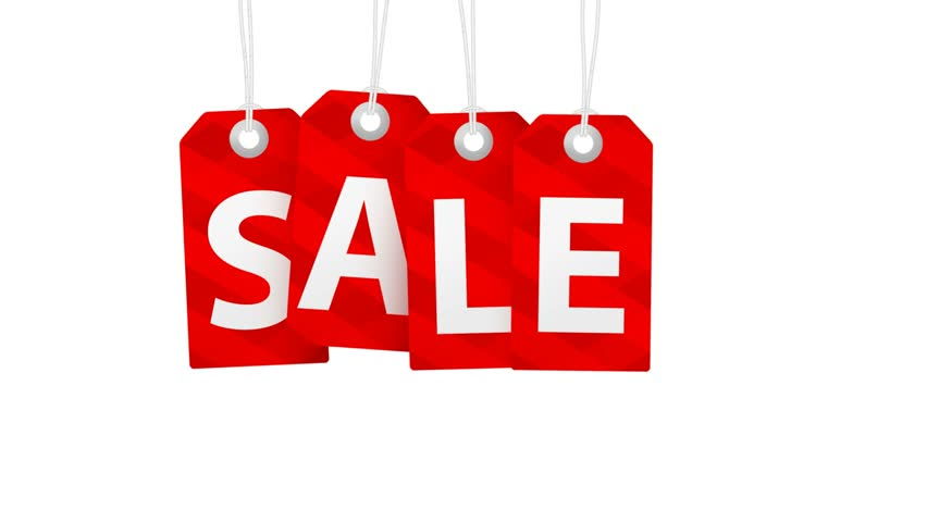 Sale animation with red tags for shopping sales and promotions | Shutterstock HD Video #13405913