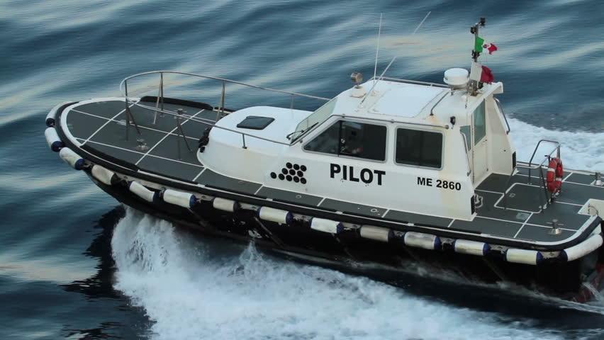 Cutter Dodge Honolulu >> MESSINA, SICILY - CIRCA MAY 2011: Pilot boat alongside of cruise ship in Mediterranean Sea, high ...