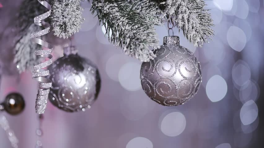 Miraculous Christmas Balls On Christmas Tree Stock Footage Video 3025588 Easy Diy Christmas Decorations Tissureus