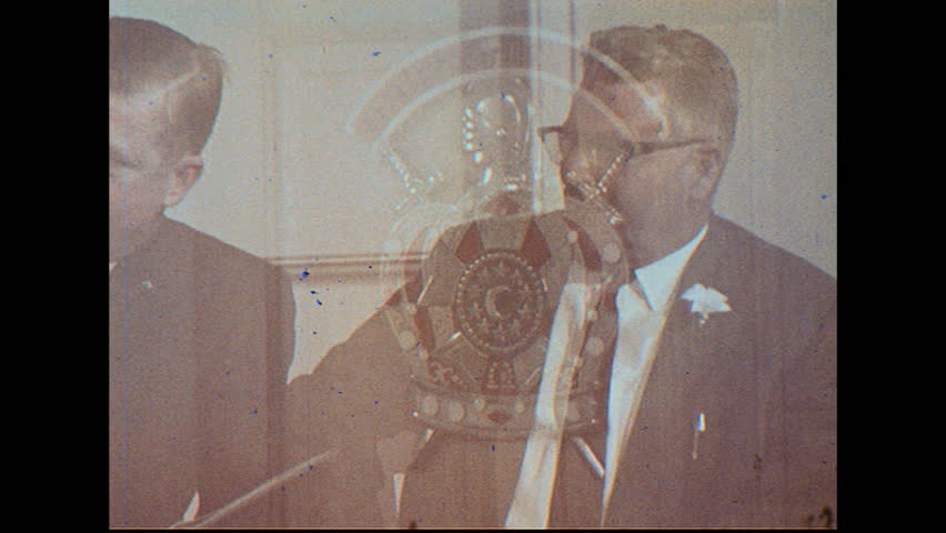 UNITED STATES 1960s: Order of Youth Group, Master Masons in Meeting - HD stock footage clip
